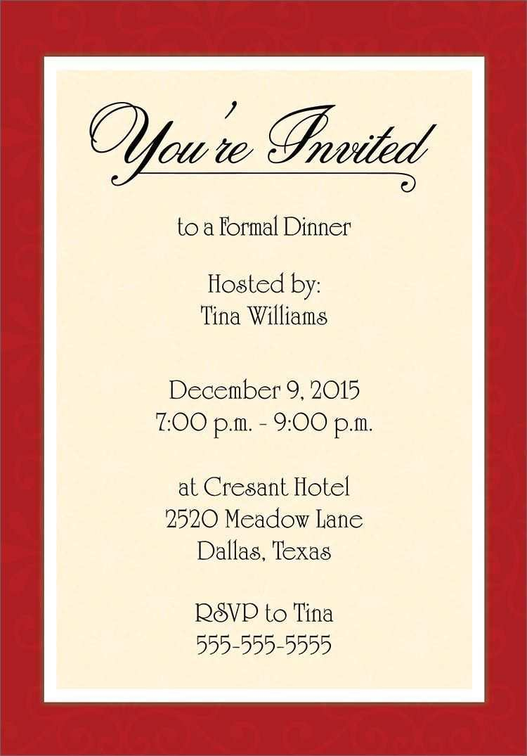 57 Report Dinner Invitation Examples in Word with Dinner Invitation Examples