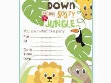 57 Standard Jungle Party Invitation Template Templates with Jungle Party Invitation Template
