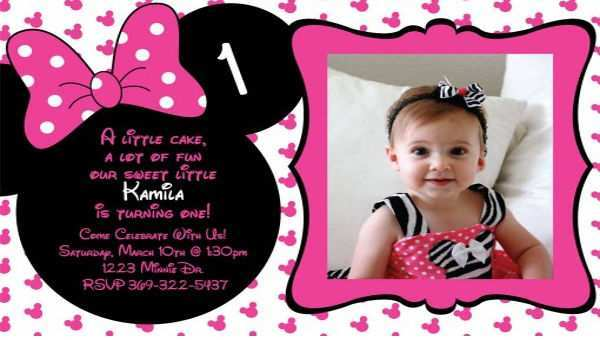 57 Visiting Minnie Mouse Birthday Invitation Template PSD File with Minnie Mouse Birthday Invitation Template