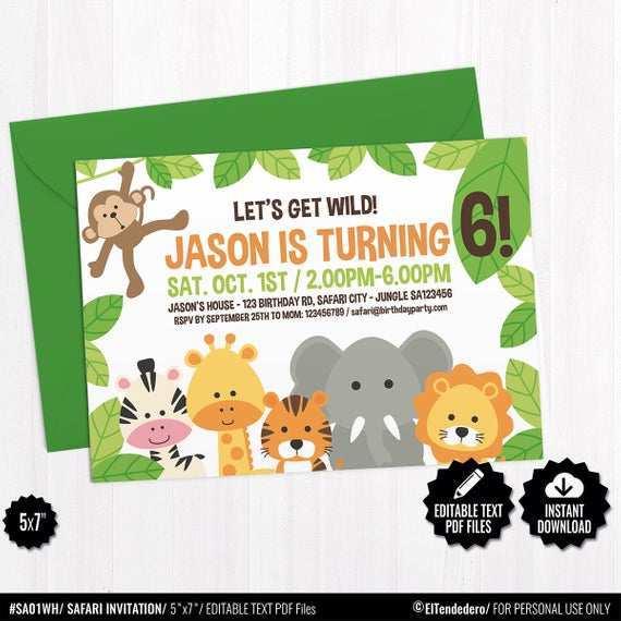 58 Best Blank Safari Invitation Template Photo for Blank Safari Invitation Template