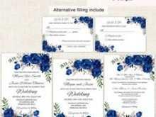 58 Blank Royal Blue Wedding Invitation Template Templates by Royal Blue Wedding Invitation Template