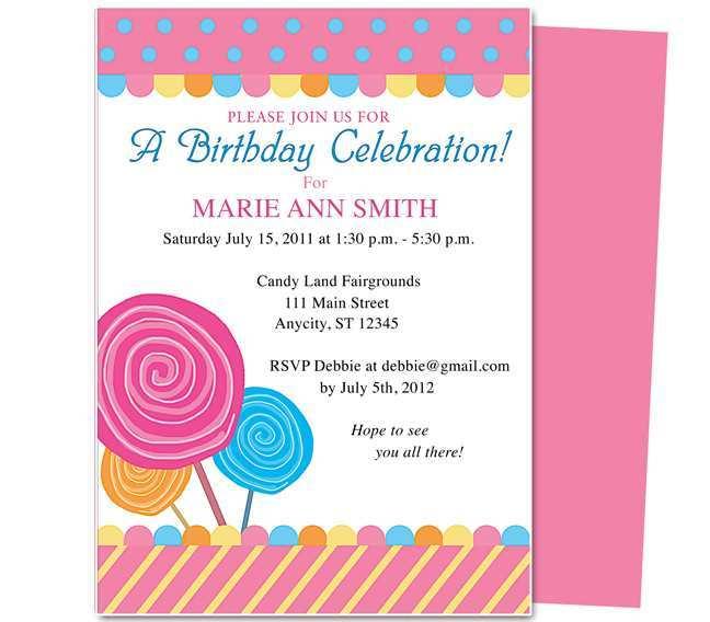 58 Create Birthday Card Invitation Example Download by Birthday Card Invitation Example