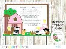 Zoo Party Invitation Template