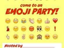 58 Free Printable Emoji Party Invitation Template Maker by Emoji Party Invitation Template