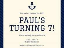 58 Free Printable Nautical Invitation Blank Template Now with Nautical Invitation Blank Template