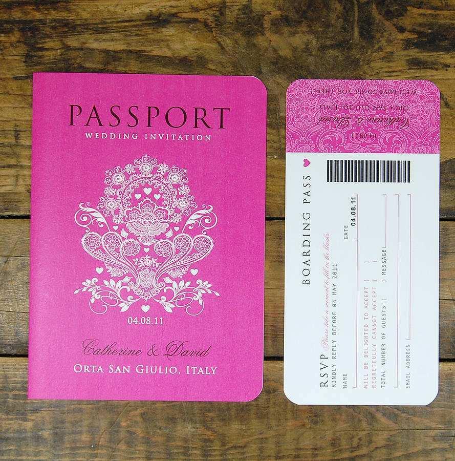 4 Online Passport Birthday Invitation Template Free With Stunning