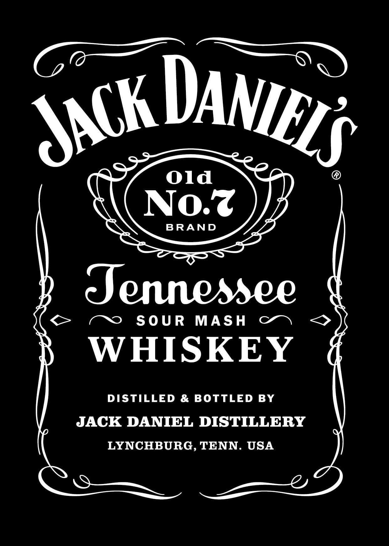 4 Report Jack Daniels Blank Invitation Template in Photoshop for