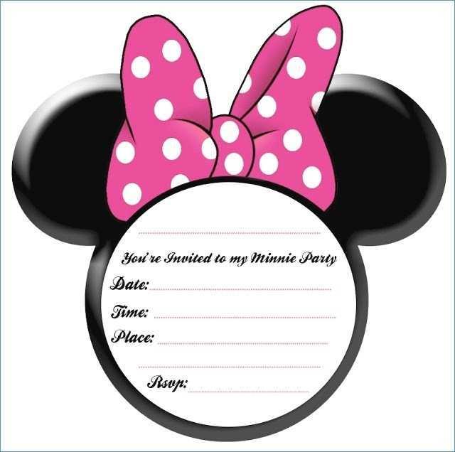 58 Standard Birthday Invitation Template Minnie Mouse Formating by Birthday Invitation Template Minnie Mouse