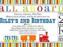58 Standard Birthday Invitation Template Train in Word for Birthday Invitation Template Train