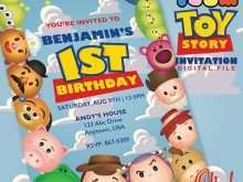 Tsum Tsum Birthday Invitation Template