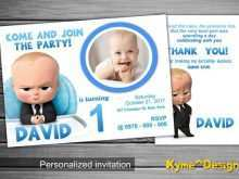 59 Creative Boss Baby Birthday Invitation Template With Stunning Design by Boss Baby Birthday Invitation Template