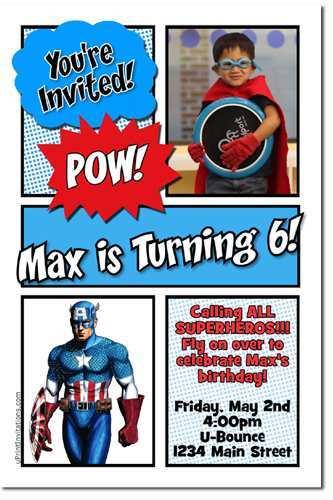 59 Creative Captain America Birthday Invitation Template Download for Captain America Birthday Invitation Template