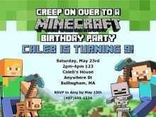59 Online Birthday Invitation Template Minecraft Photo by Birthday Invitation Template Minecraft