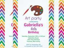 60 Create Art Party Invitation Template Free Maker by Art Party Invitation Template Free