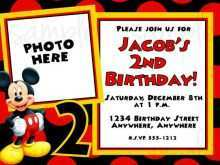 60 Create Mickey Mouse Blank Invitation Template Now by Mickey Mouse Blank Invitation Template