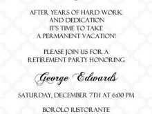 60 Creating Formal Retirement Invitation Template Photo with Formal Retirement Invitation Template