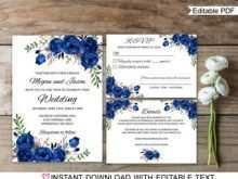 60 Creating Royal Blue Wedding Invitation Template in Word with Royal Blue Wedding Invitation Template