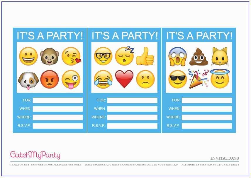 60 Customize Birthday Invitation Template Emoji in Photoshop for Birthday Invitation Template Emoji