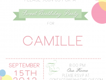 Kid Birthday Party Invitation Template Word