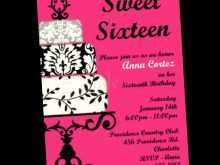 60 Customize Our Free Blank Sweet 16 Invitation Templates Now by Blank Sweet 16 Invitation Templates
