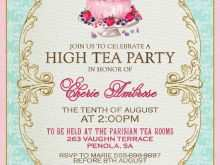 60 Free Printable Afternoon Tea Party Invitation Template for Ms Word for Afternoon Tea Party Invitation Template