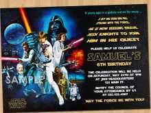 60 Online Star Wars Birthday Invitation Template For Free for Star Wars Birthday Invitation Template