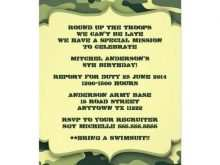 60 Printable Camouflage Party Invitation Template For Free for Camouflage Party Invitation Template