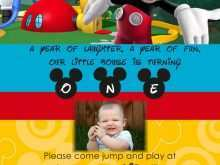 60 Printable Mickey Mouse Blank Invitation Template For Free by Mickey Mouse Blank Invitation Template