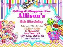 60 Printable Shopkins Birthday Invitation Template Free Download with Shopkins Birthday Invitation Template Free