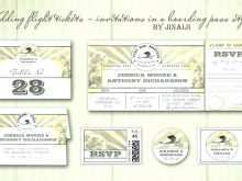 60 Report Airline Ticket Wedding Invitation Template Free Now with Airline Ticket Wedding Invitation Template Free