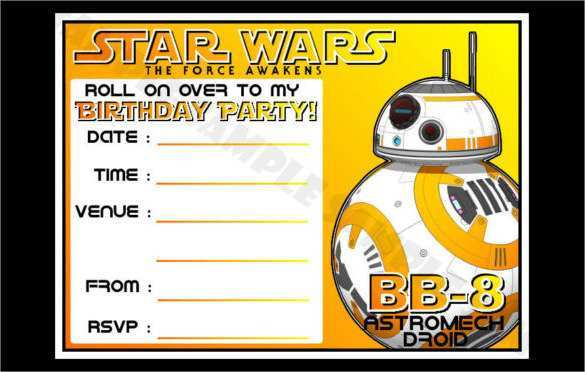60 Report Birthday Invitation Template Star Wars Photo with Birthday Invitation Template Star Wars
