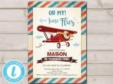 60 Standard Airplane Birthday Invitation Template in Word by Airplane Birthday Invitation Template