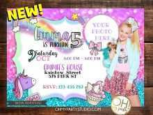 Jojo Siwa Party Invitation Template