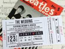 61 Adding Concert Ticket Wedding Invitation Template for Ms Word with Concert Ticket Wedding Invitation Template
