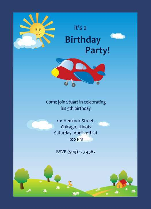 61 Create Birthday Party Invitation Template Boy in Photoshop for Birthday Party Invitation Template Boy