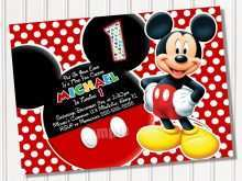 61 Creating Mickey Mouse Blank Invitation Template Download with Mickey Mouse Blank Invitation Template
