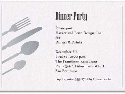 61 Creative Dinner Invitation Examples for Ms Word with Dinner Invitation Examples