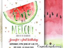 One In A Melon Birthday Invitation Template