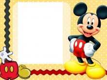 61 Free Printable Mickey Mouse Blank Invitation Template in Photoshop by Mickey Mouse Blank Invitation Template
