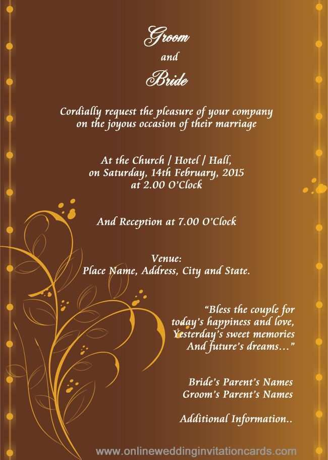 61 How To Create Invitation Card Format For Marriage Download for Invitation Card Format For Marriage