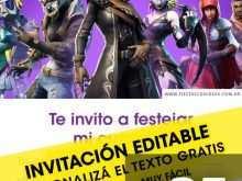 61 Online Fortnite Birthday Invitation Template For Free for Fortnite Birthday Invitation Template