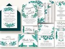 61 Printable Wedding Invitation Template Eucalyptus Layouts with Wedding Invitation Template Eucalyptus