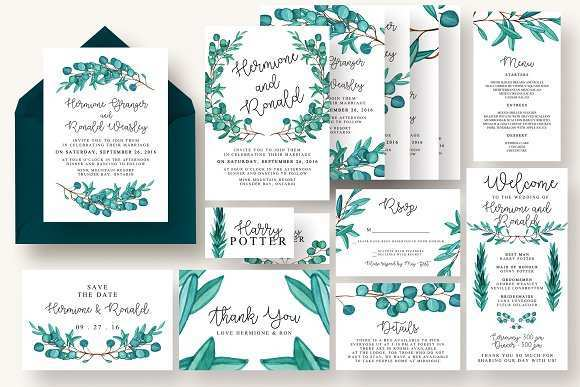 61 Printable Wedding Invitation Template Eucalyptus Layouts with Wedding Invitation Template Eucalyptus