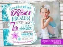 61 Standard Birthday Invitation Template Frozen Photo for Birthday Invitation Template Frozen