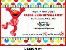 61 Standard Elmo Birthday Invitation Template Templates with Elmo Birthday Invitation Template