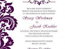 61 Standard Wedding Invitation Templates Violet Now for Wedding Invitation Templates Violet