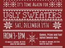 Ugly Holiday Sweater Party Invitation Template Free