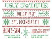 61 The Best Ugly Holiday Sweater Party Invitation Template Free Formating with Ugly Holiday Sweater Party Invitation Template Free