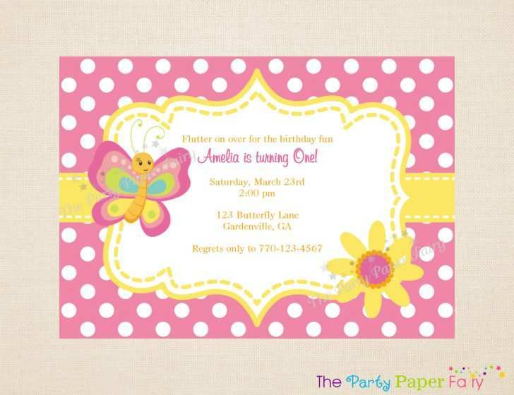62 Adding Birthday Invitation Butterfly Template in Word for Birthday Invitation Butterfly Template
