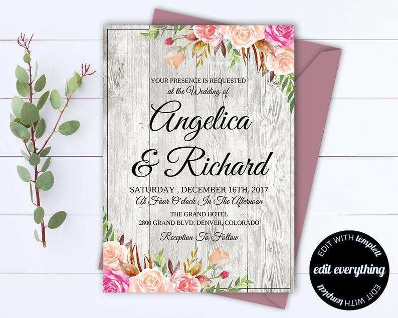 62 Create Floral Wedding Invitation Template PSD File for Floral Wedding Invitation Template